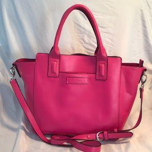 Pink Leather Vera Bradley tote